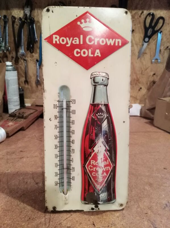 Vintage Royal Crown Thermometer, Good Condition, Works Good
