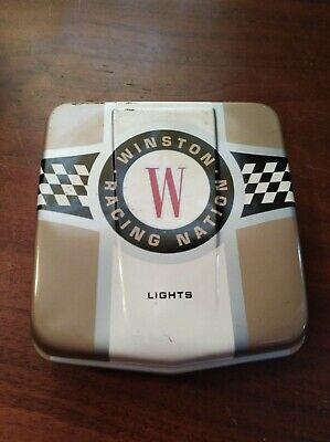 VINTAGE NASCAR Winston Racing Nation-Tin Collectible Cigarette Case