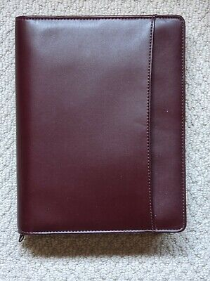 New Dayrunner Madrid Burgundy Leather Zippered 3-ring Planner Tons Of Inserts