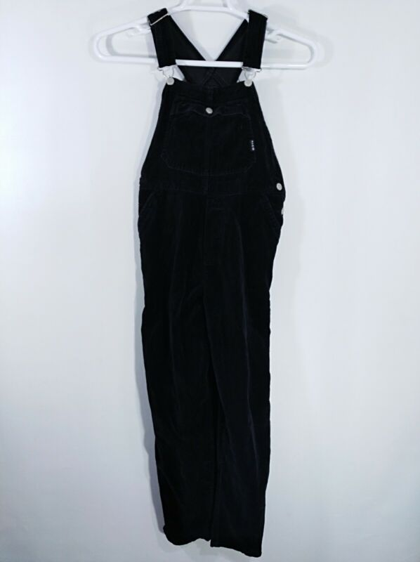 Gap Girls Black Plush Velour Bib Overalls Size XL