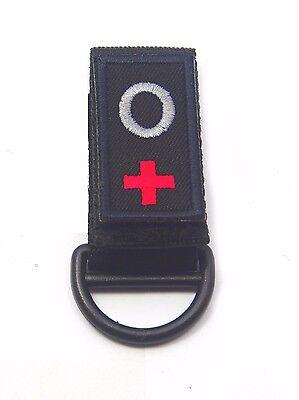 Custom Blood Type Police Security Duty Belt Keepers Hook Loop Fit Belts 2