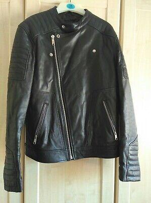 ASOSS  mens Leather Jacket Size Medium  All Saints