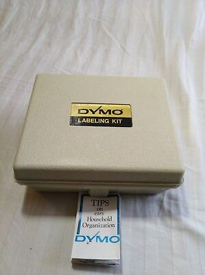 Vintage Dymo Label Maker M-6 Comes W Case Extra Wheels And Tape