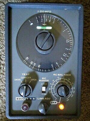 Eico 955 Capacitor Tester With Original Factory Manual. Nice