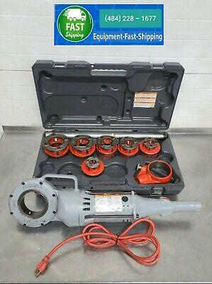 Ridgid 700-t2 Pipe 700 Threader Wset Of 12-r Dies Plastic Case Nice