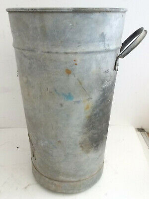 Vintage Galvanised Tall Bucket With Side Handle