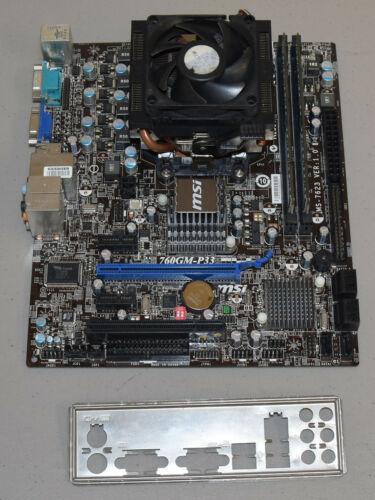 MSI 760GM-P33 Motherboard CPU Combo AMD Phenom II x6 1055T 2.8GHz Six Core 8GB