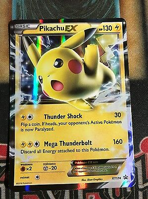 Pokemon Pikachu Ex Xy174 Black Star Promo Ultra Rare Nm