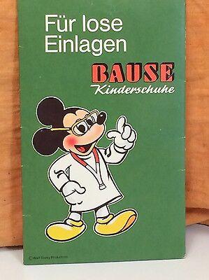 KLEINER WERBEAUFSTELLER BAUSE KINDERSCHUHE WALT DISNEY PRODUCTIONS MICKY MAUS
