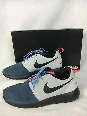 size 40 ae8c6 58551 Nike ID Mens Warrior Games 2013 Sneakers Blue Gray Suede Athletic Shoes 11  New