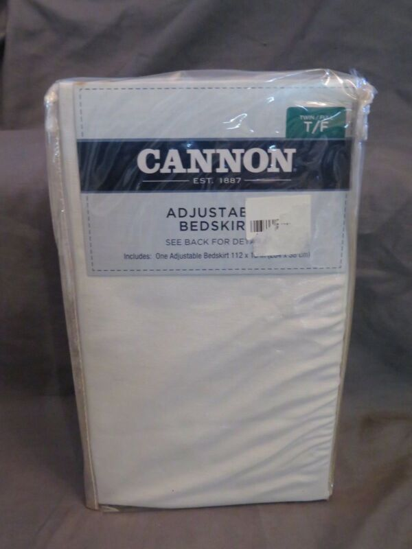 """New Cannon Adjustable Bedskirt for Full or Twin Size Bed ~ 15"""" Drop Solid Khaki"""