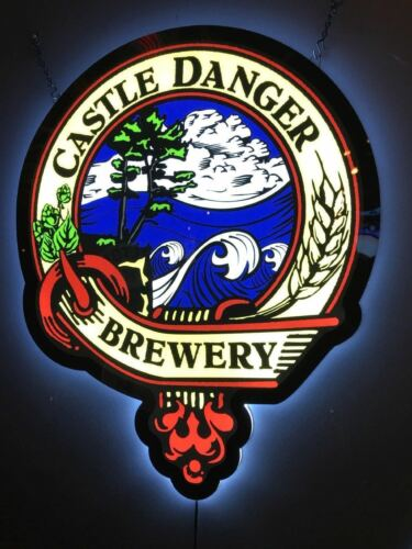 New Castle Danger Brewery Logo Man Cave LED Neon Sign 20""