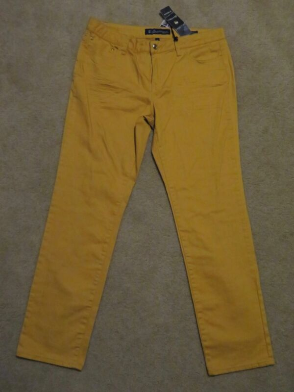 69606d06c0e New Women's Salt Works Skinny Jeans Mustard Yellow Denim Pants Nip Tuck  Size 16