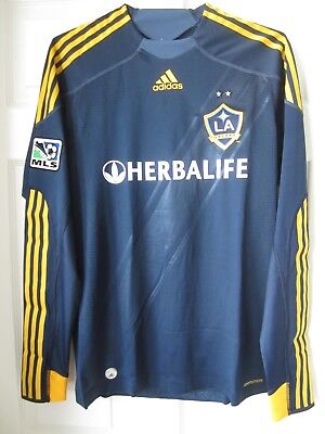 Adidas LA Galaxy Player Issue Formotion Away Blue Soccer Jersey Beckham Donovan for sale  Shipping to Canada