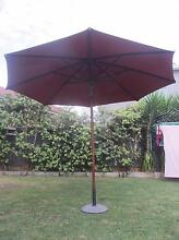 SHELTA OUTDOOR UMBRELLA RED 3.3M WITH CONCRETE BASE Little Bay Eastern Suburbs Preview