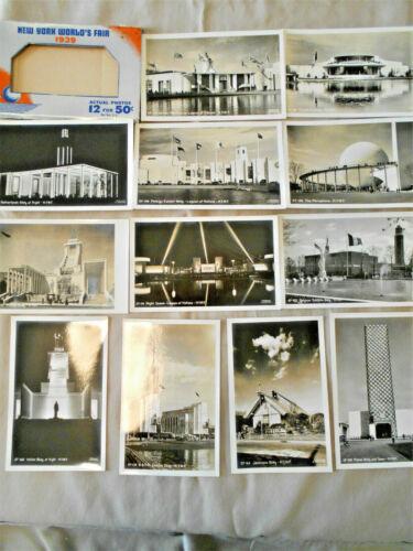 N Y WORLD'S FAIR 1939 12 B&W PHOTO POST CARDS UNDERWOOD & UNDERWOOD-UNUSED