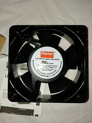 """Muffin Cooling Fan 4-3//4/"""" Electrical Cabinet Enclosure 220v 110 cfm 3100 rpm NEW"""