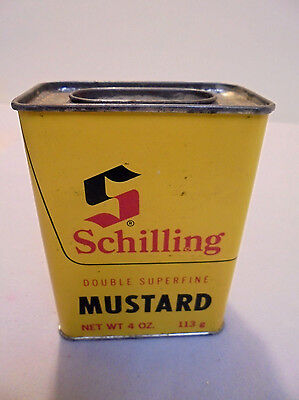 Schilling Mustard Tin  4 Oz   Mccormick   Co  Inc   3 75  Tall Retro