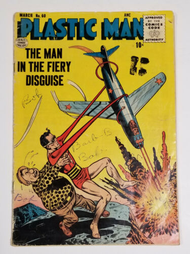 Plastic Man #60 Aviation Cover (Qualtiy Comics 1956)