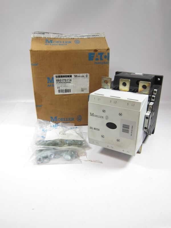 New Eaton Moeller DILM250/22 RA250 Contactor 132kW 400V AC-3