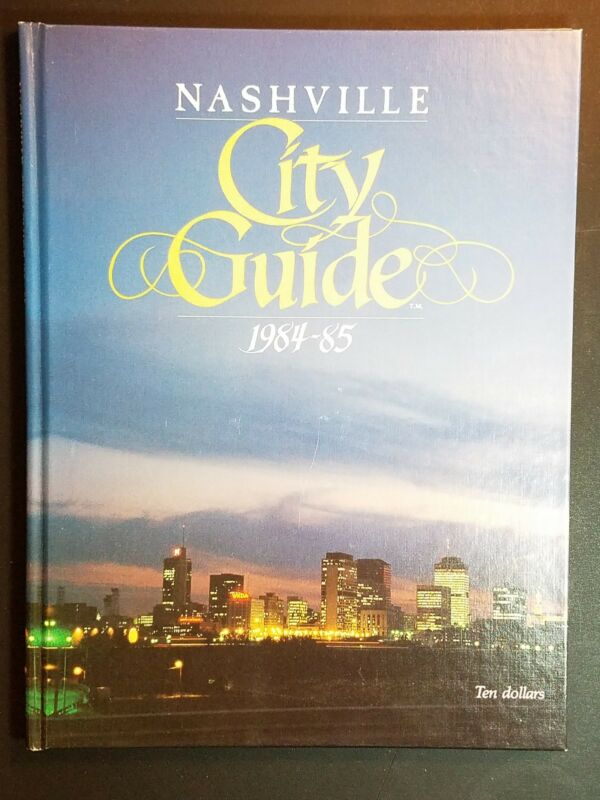 Vintage Nashville City Guide Hardcover Book: 1984-1985, Rare Item, Very Cool