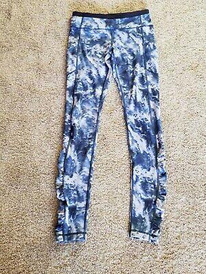 Lululemon High Waisted Long Leggings,  Blue, Women's Size 6