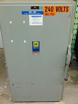 Square D 600v 600 Amp Single Throw Fusible Safety Switch H266 600a Disconnect