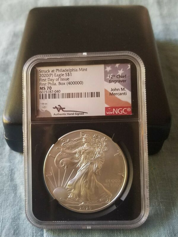 2020 (P) $1 Silver Eagle Philadelphia Emergency Issue NGC MS70 FDOI FIRST BOX