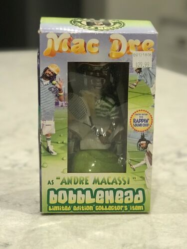 Mac Dre Andre Macassi Bobblehead NEW IN BOX.  Extremely RARE.  Collectors Item!