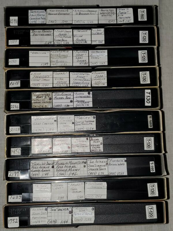 VHS Tape Lot Of 10 Sold As Blank With Multiple Pre Recordings Labeled