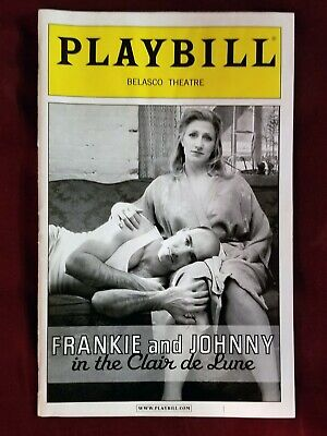 Frankie and Johnny in the Clair de Lune Playbill Edie Falco Stanley Tucci (Frankie & Johnny In The Clair De Lune)