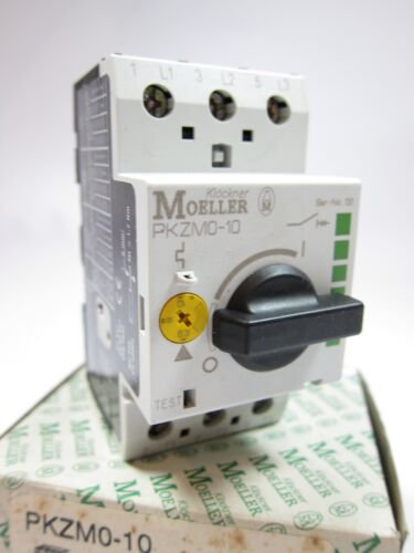 MOELLER PKZM0-10 MOTOR PROTECTIVE SWITCH 6.3-10A USED GOOD CONDITION