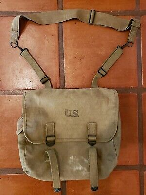 WWII 1943 US Army M1936 Paratrooper/ Airborne Musette Field Bag Ruck sack Haver