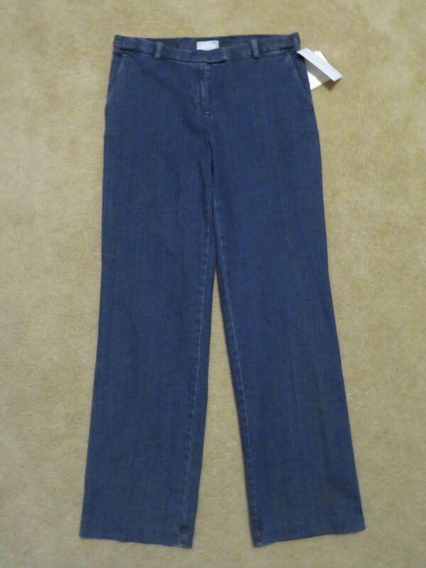 875dca9c288 New Women s Liz Claiborne Straight Leg Fit Stretch Dark Blue Jeans Pants  Size 10