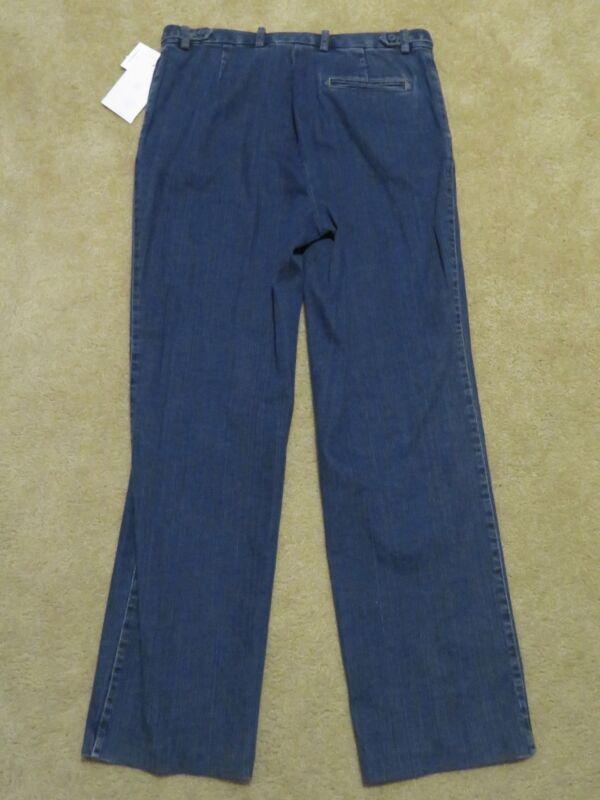 b57bc8a1e65 New Women s Liz Claiborne Straight Leg Fit Stretch Dark Blue Jeans ...