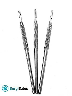 3 Pcs Round Scalpel Handle For Blades 1011121515c16 German