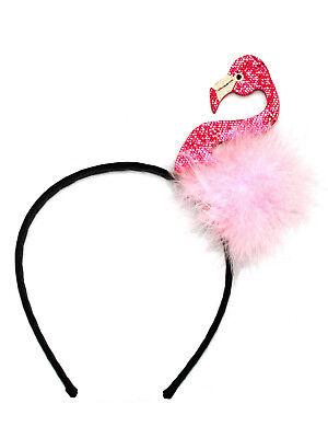 Flamingo Kostüm Haarreif Karneval Fasching Pink Rosa Accessoire für Erwachsene