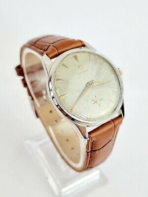 1956 Vintage Omega Cal.267 Waffle Dial Gents Watch.