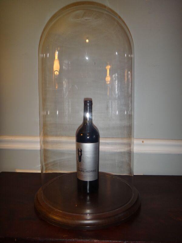 X XL Antique Display Dome Free Blown Glass 23 x 11 Clock Doll Taxidermy Cloche