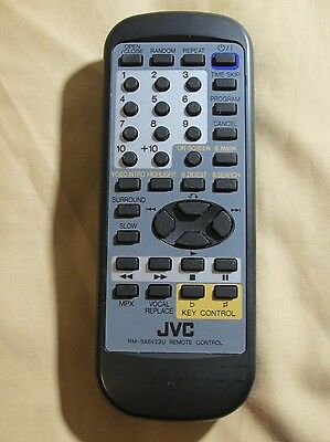 Genuine JVC Home Audio Remote Control Unit RM-SXSV22U Tested & Working XLSV22BK Jvc Home Audio