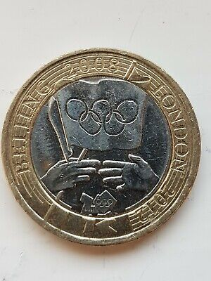 2008 Beijing to London 2012 Olympic Games Handover £2 2 pound coin