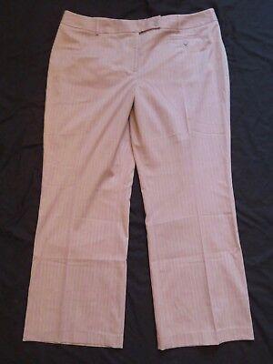 Neuer Frauen Lane Bryant Braun Nadelstreifen Houston Hose Anzughose ()