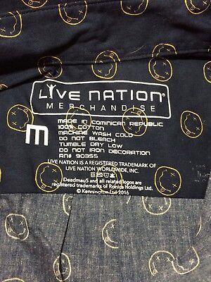 Nirvana Live Nation Collared Shirt Blue Median 100  Cotton