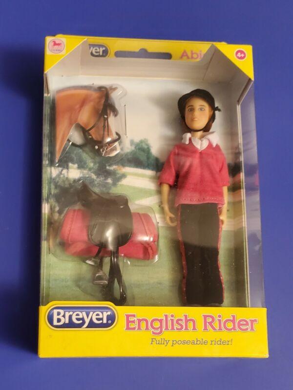 "NIB Breyer ""Abigail"" English Rider, Fully Poseable, w/ Saddle, Pad, and Bridle"