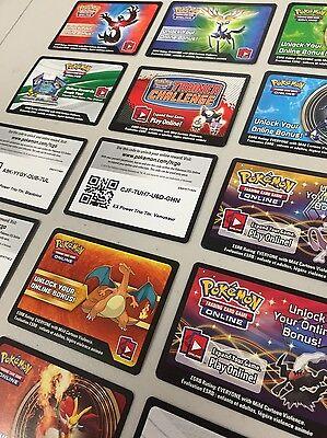 Pokemon Tcg Online   Virtual Card 15 New Ex   Mega Code Lot