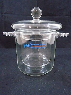 Tg Scientific Glass Jacketed Reaction Beaker Conical Vessel 105mm X 110mm Id