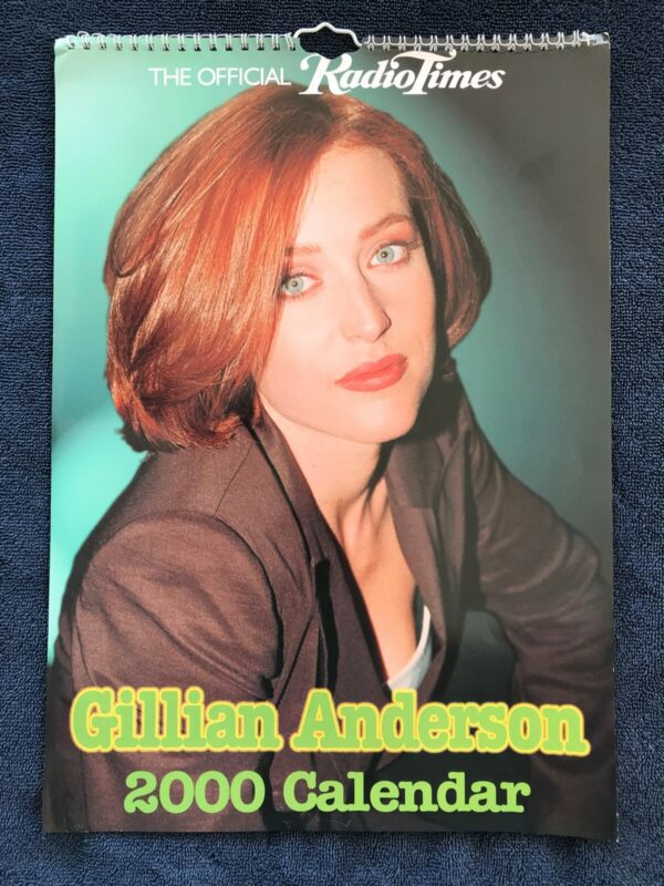 2000 Gillian Anderson Wall Calendar British Import Oversize