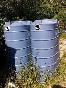 2 x USED Slimline rainwater tanks 1100 litres each Virginia Brisbane North East Preview