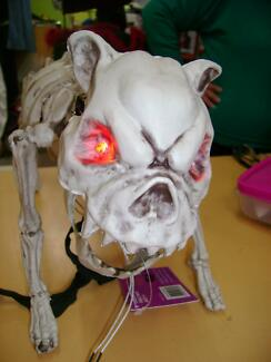 Barking skeleton dog with light up eyes, Halloween prop Valley View Salisbury Area Preview