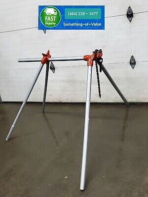 Ridgid Sc5 Chain Vise Stand Use With Your Pipe Threading Threader 300 700